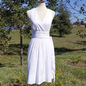 White House Black Market Fit Flare Cotton Sundress